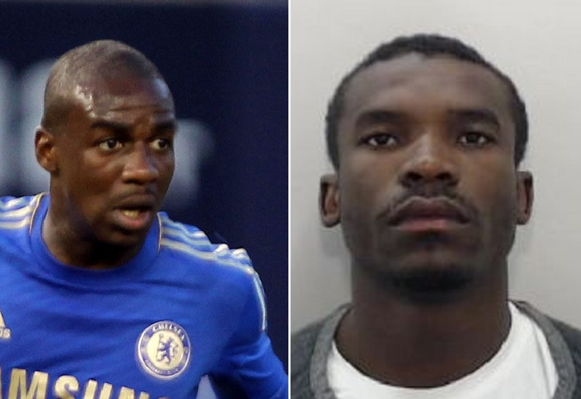Gael Kakuta (left) and not Gael Kakuta (right), but fraudster Medi Abalimba