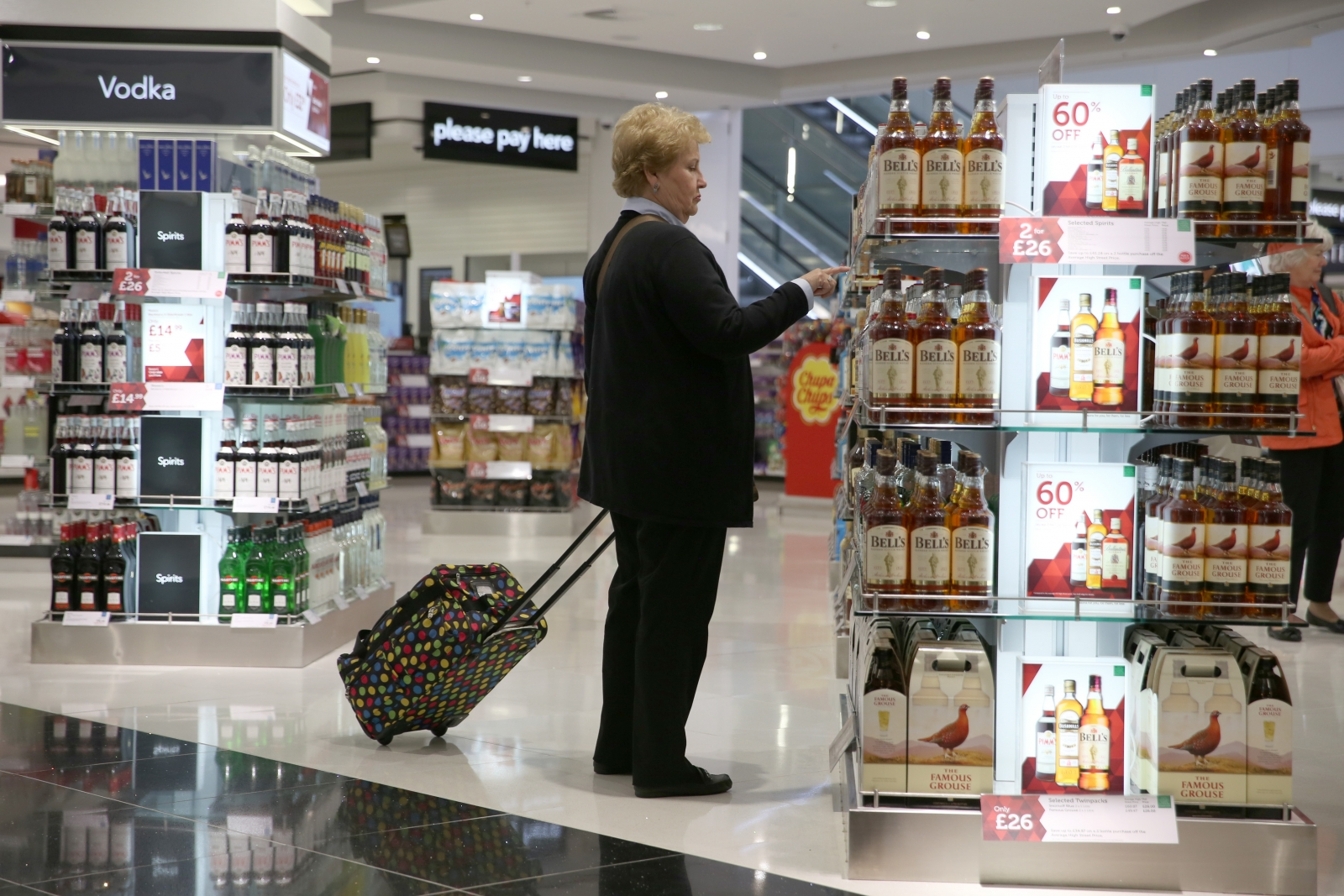 A Duty Free shop is seen in Terminal 2 at Heathrow Airport in London