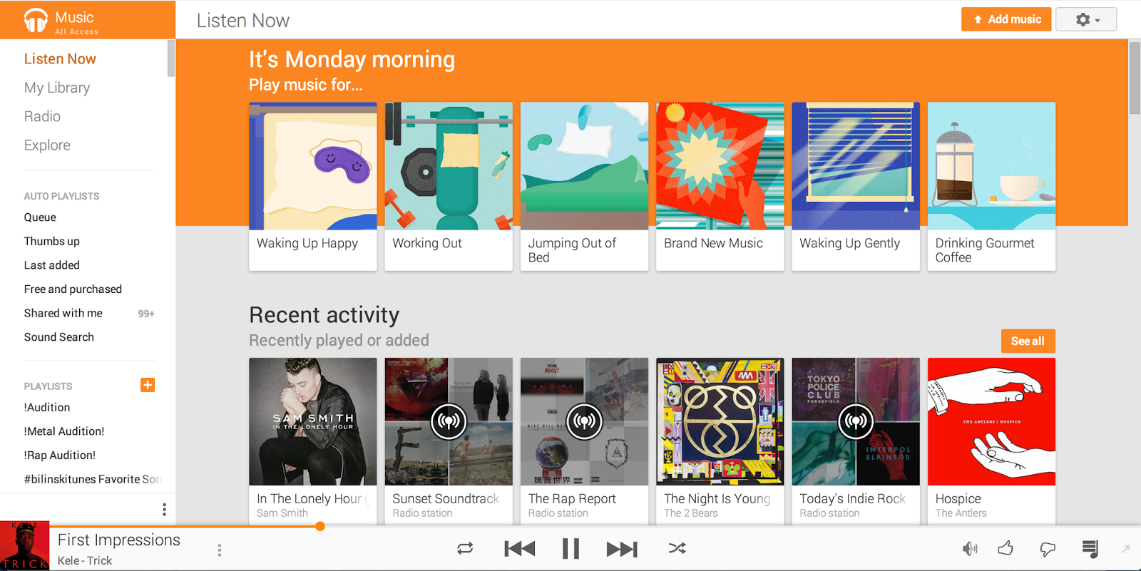 New update to Google Play Music App Brings Material Design and 'Activity-Based Music Station' Feature