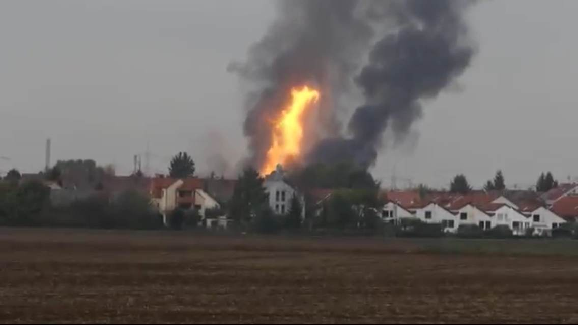 Ludwigshafen Gas Explosion fire