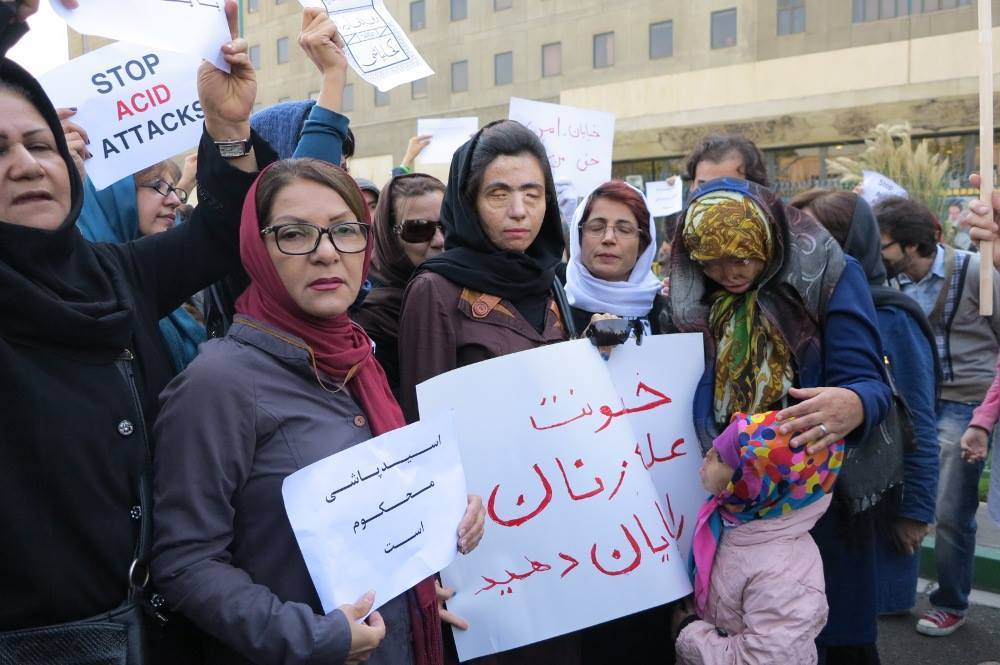 Acid Attack Protest Iran