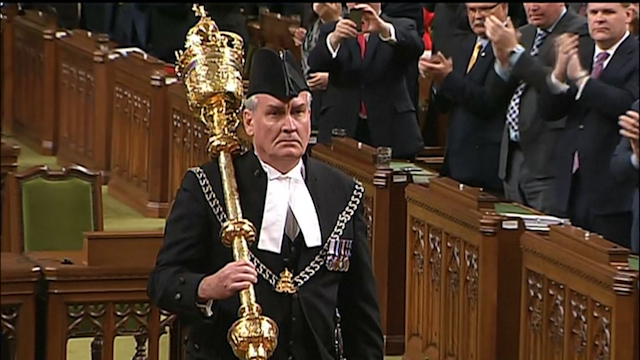 Sergeant-at-Arms Vickers Receives Hero's Welcome in Canadian Parliament