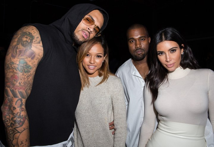 Chris Brown, Karrueche Tran, Kanye West and Kim Kardashian