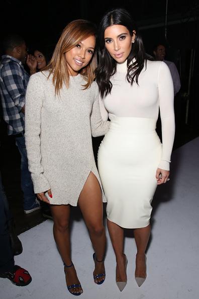 Karrueche Tran and Kim Kardashian