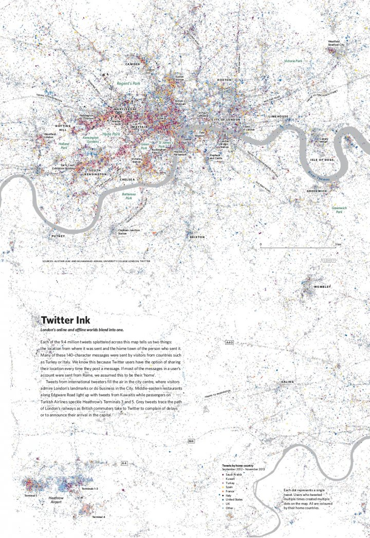 Twitter usage in London