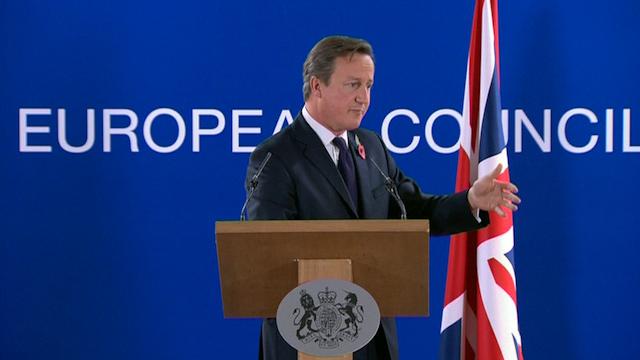 Cameron Blasts 'Appalling' Treatment of Britain over £1.7bn Bill