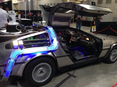 London ComicCon Back to the Futures Delorian
