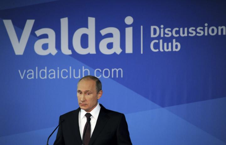 Putin delivers his speech in Sochi (Getty)