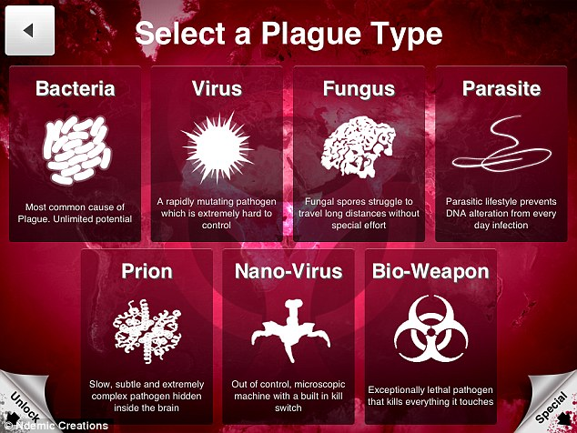 Smartphone game Plague Inc allows players to create a deadly virus, similar to Ebola