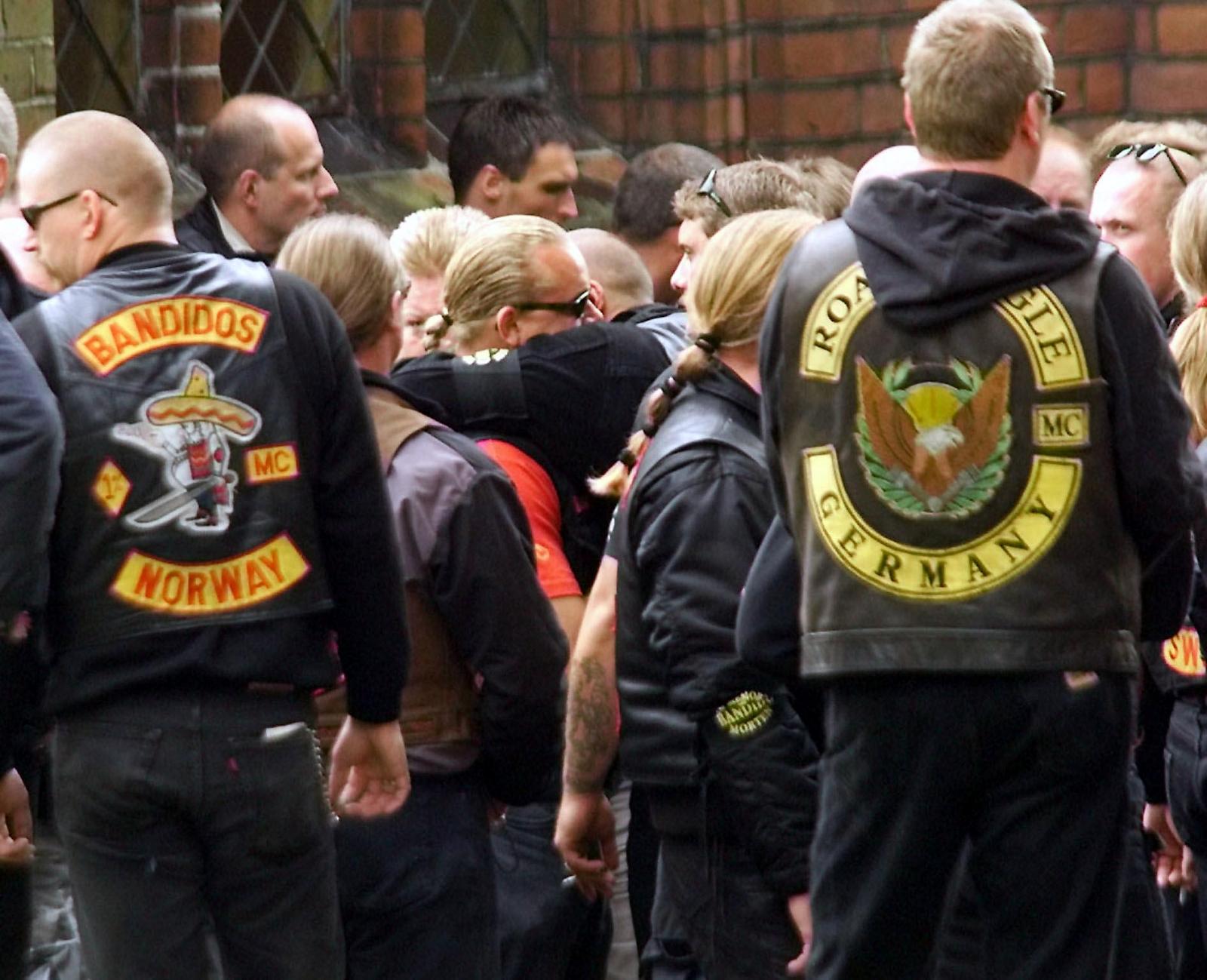 Scandinavian members of the Bandidos gang (Getty)