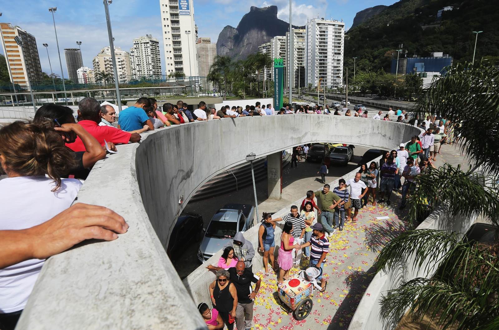 Voters queue in Rio (Getty)