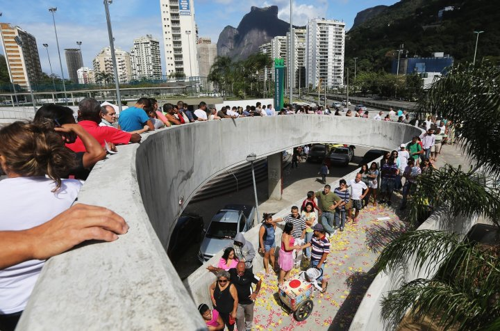 Voters queue in Rio (Getty)