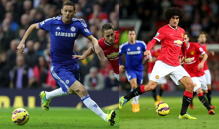 Nemanja Matic and Marouane Fallaini