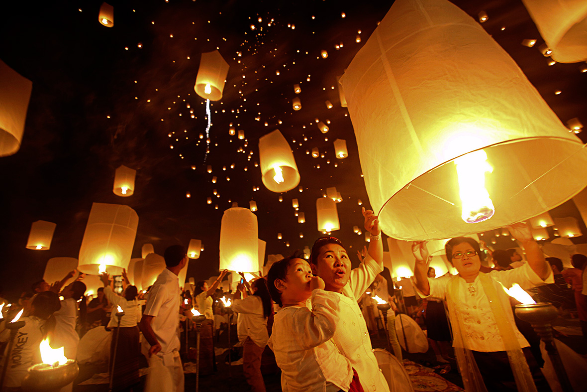 buddhist lanterns