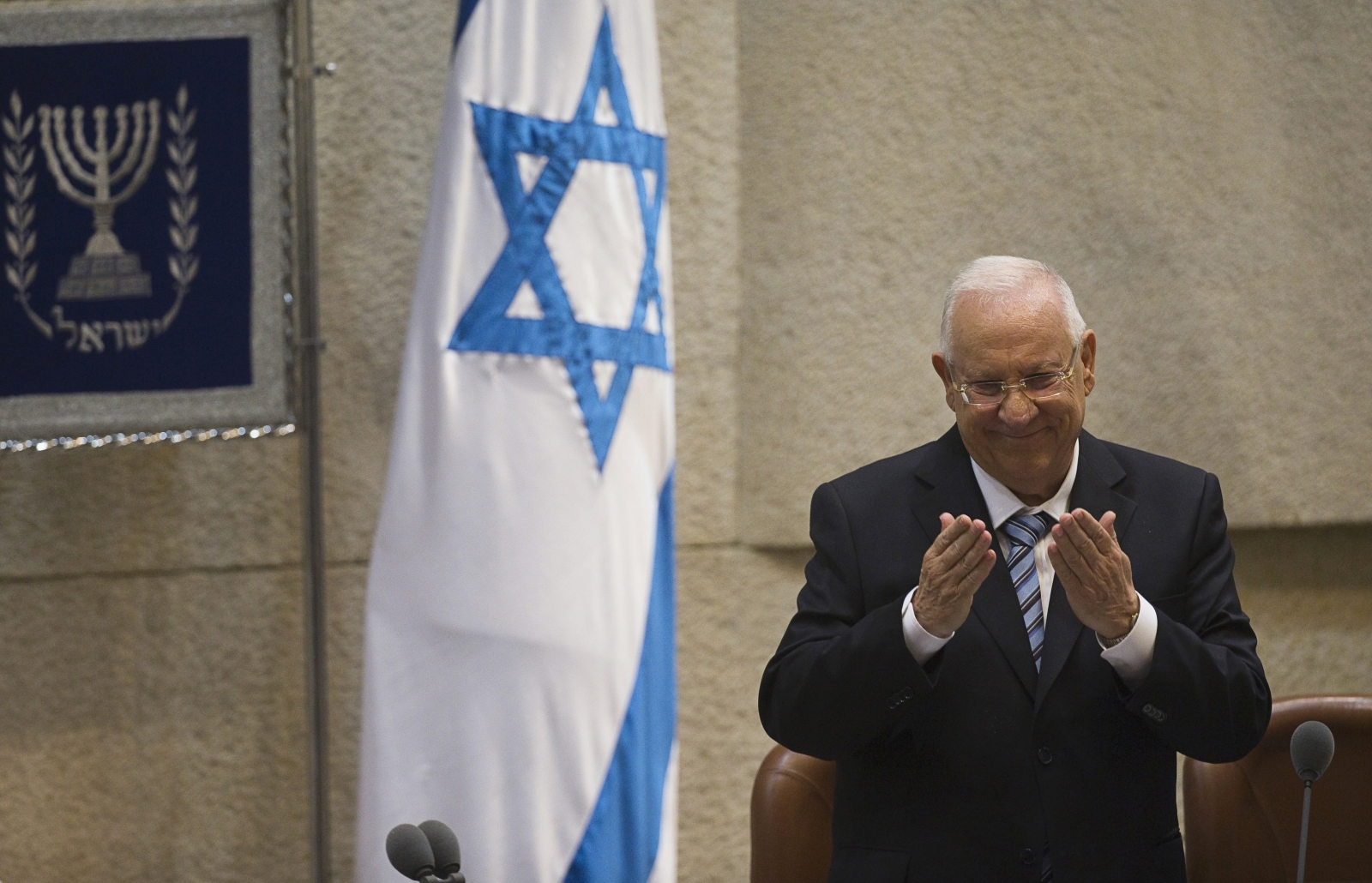 "Israeli President Reuven Rivlin criticized the right-wing over its stance that ""a Jewish democratic state means a democratic state for Jews."""