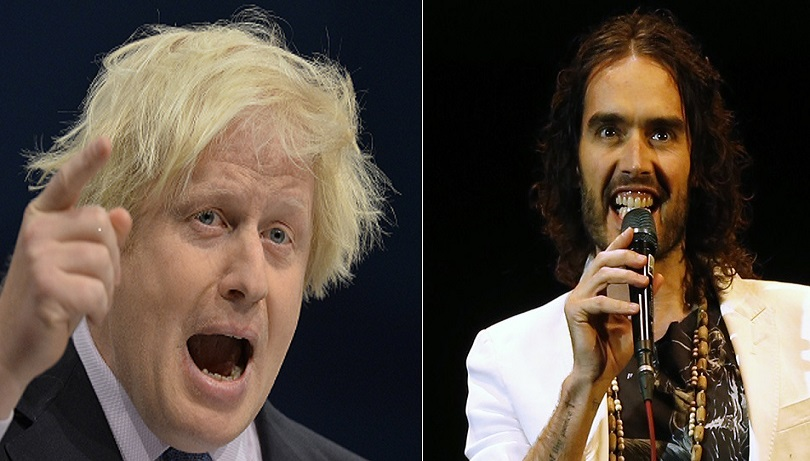 Russell Brand (left) insists he has no plans to run for Mayor of London