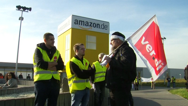 German Amazon Workers Called to Strike in Pay Dispute