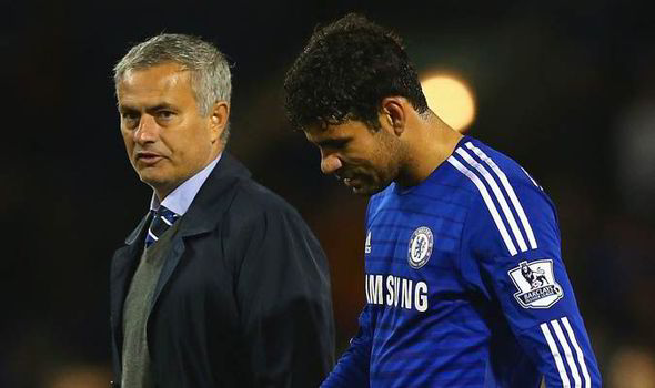 Jose Mourinho and Diego Costa
