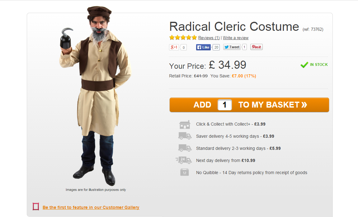 Radical Cleric Costume