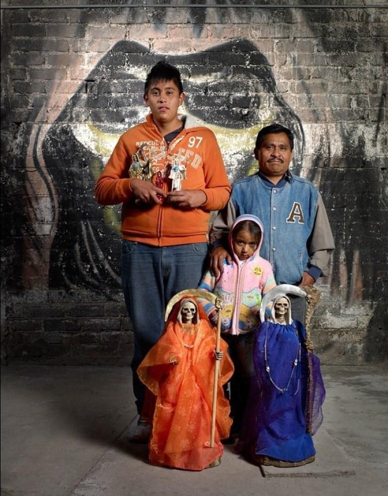 Santa Muerte devotees day of the dead