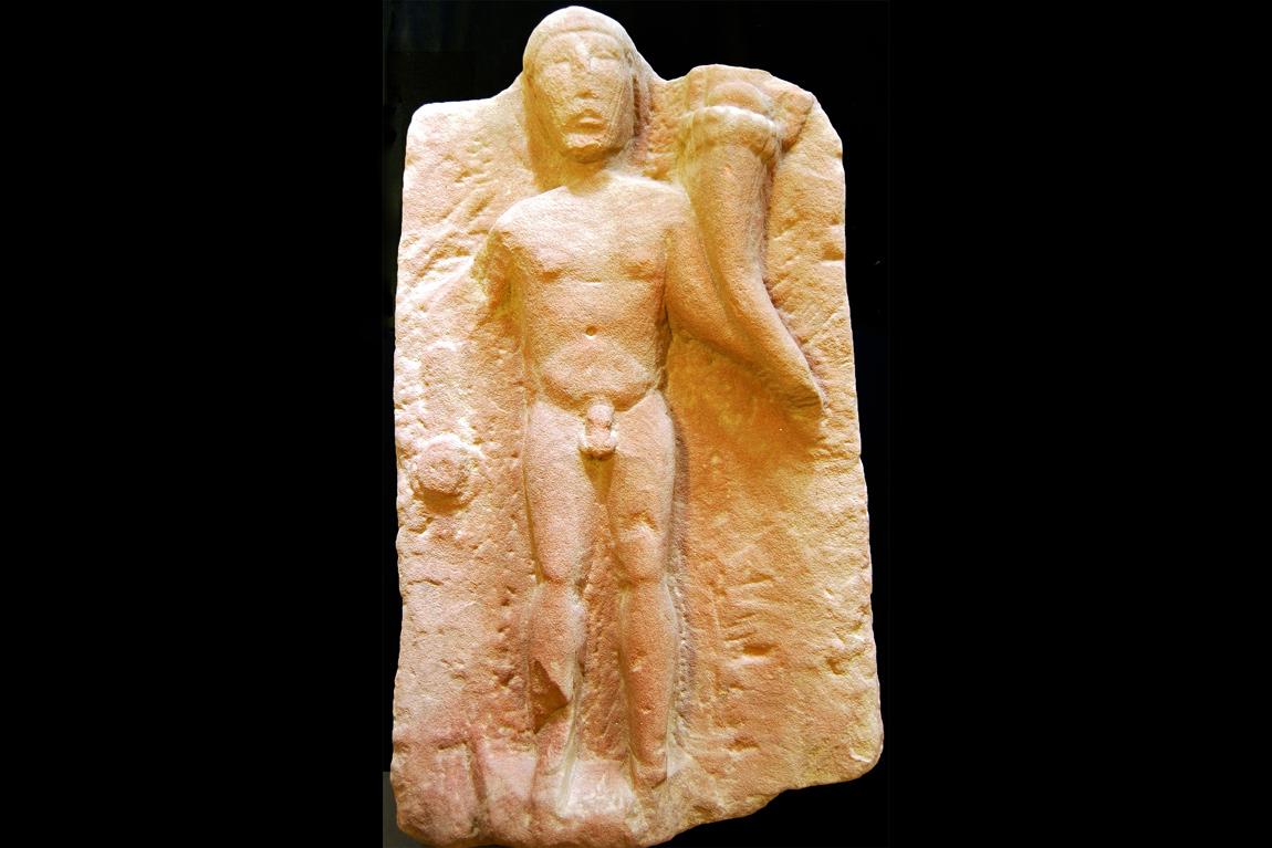 A male genius loci fertility god statue found in Cumbria