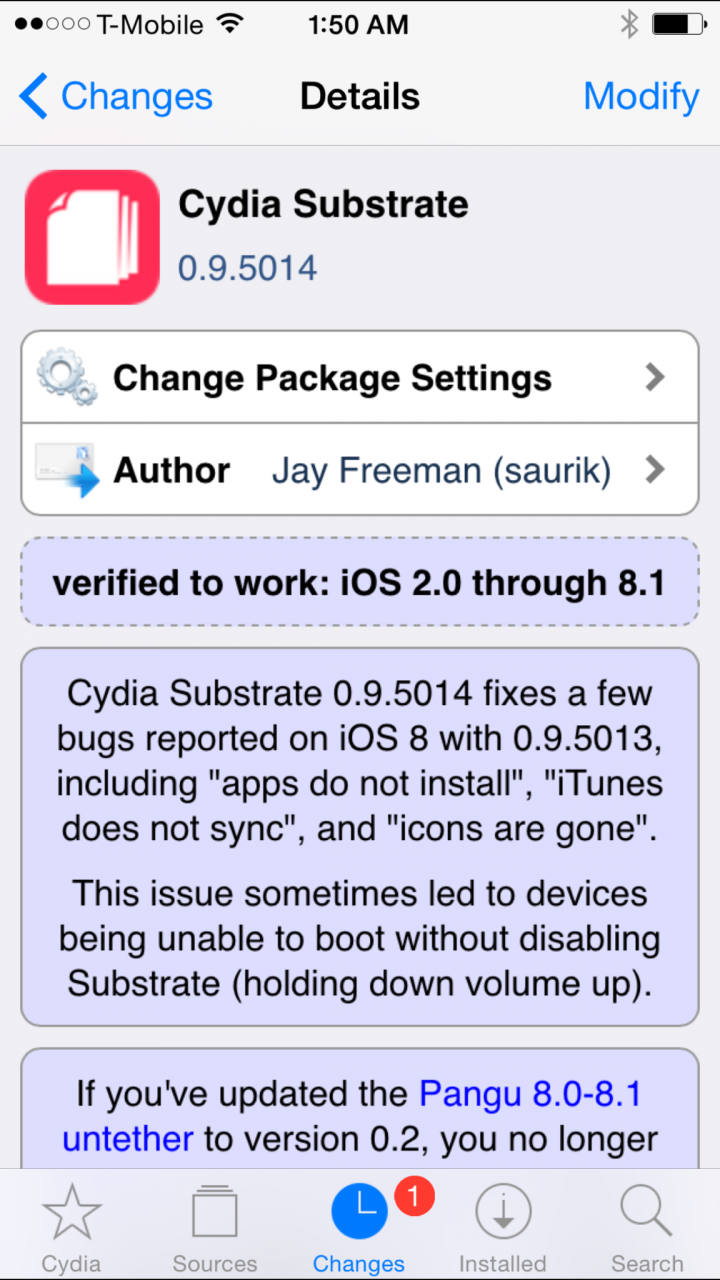 iOS 8.x Pangu Jailbreak: New Cydia Substrate Updates Bring Fixes for App Installation Issues, iTunes Syncing Bugs and OpenSSH