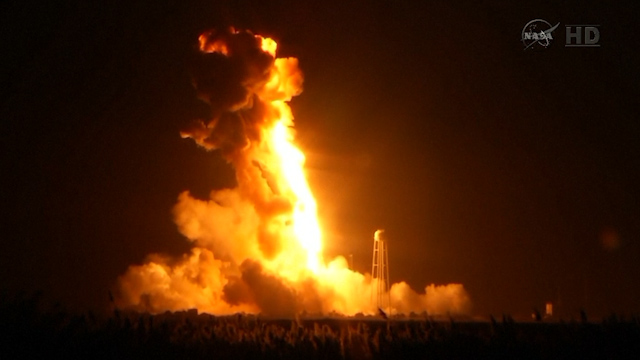 Nasa Rocket Explodes Seconds After Lift-Off in Virginia