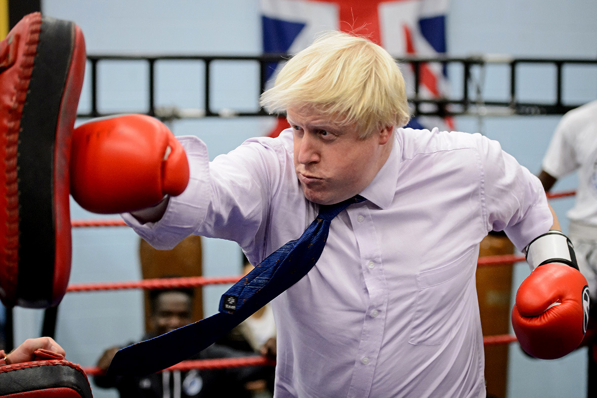 Boris Johnson boxing