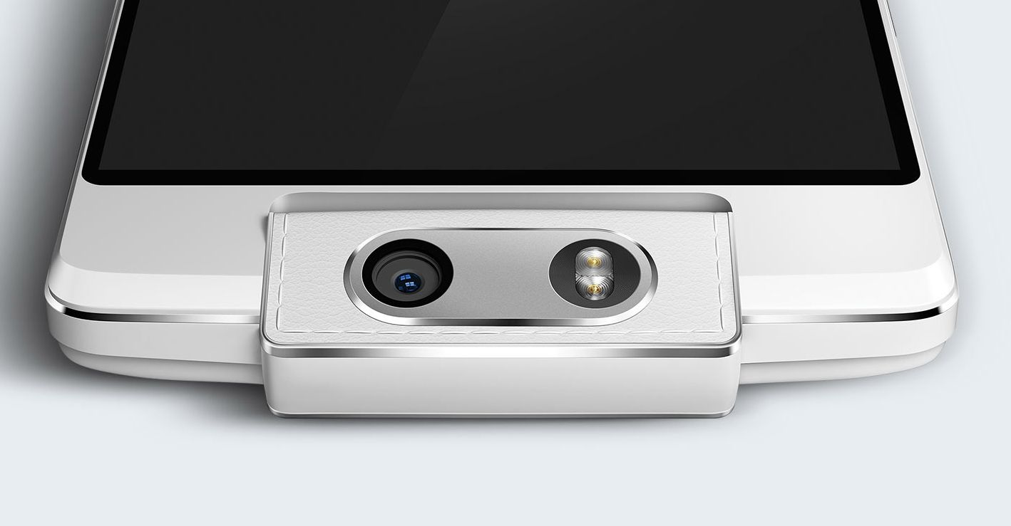 The Oppo N3 features a motorised, rotating camera which can automatically track a subject