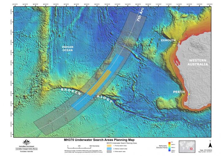 Flight MH370 search area