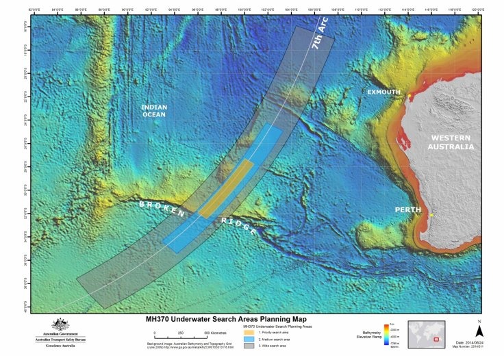 Flight MH370 search area