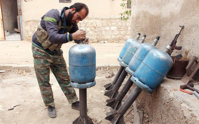 Barrel Bombs Dropped on Syria Refugee Camp
