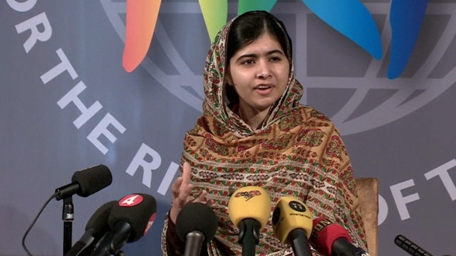 Malala Yousafzai Receives World's Children's Prize
