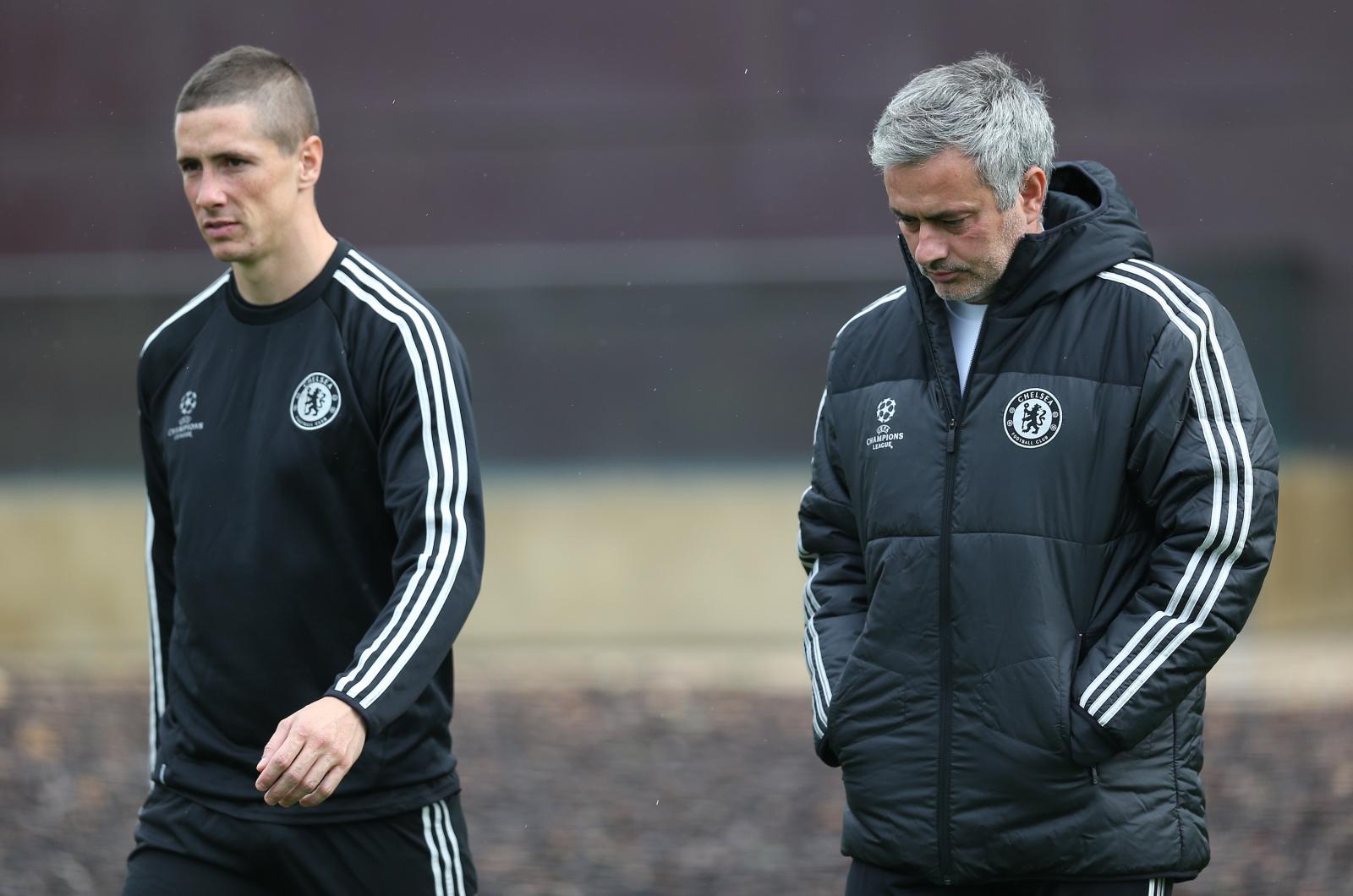 Jose Mourinho and Fernando Torres