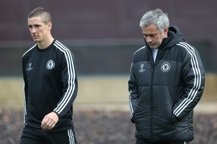 Jose Mourinho and Fernando Torres