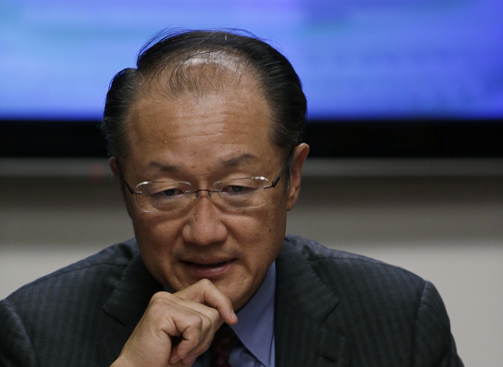 World Bank Group President Jim Yong Kim is interviewed at the Reuters Global Climate Change Summit in Washington October 16, 2014.