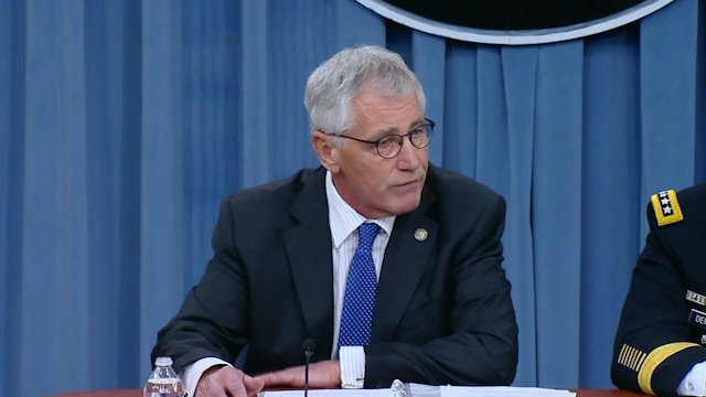 Hagel: Assad may Benefit from US Attacks on Isis
