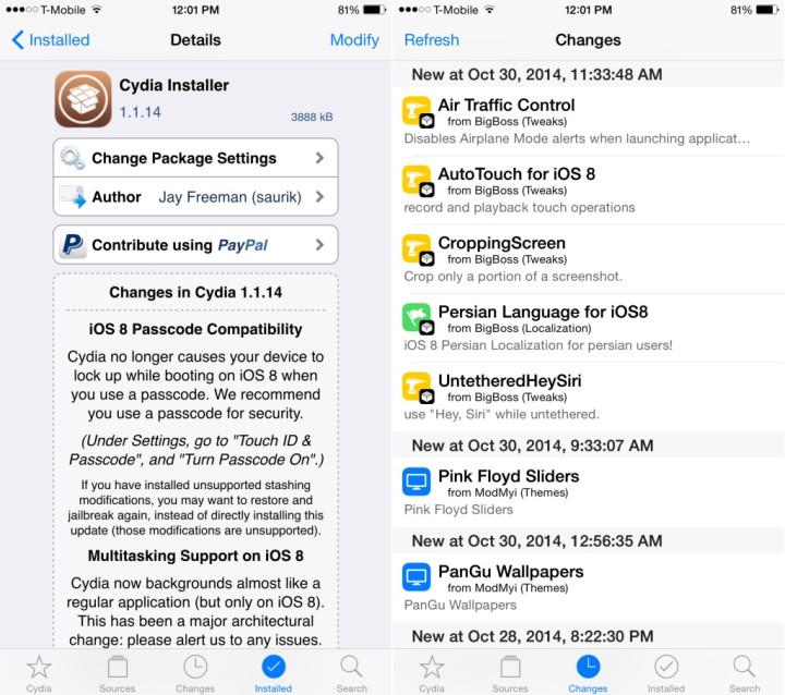 iOS 8 0/8 1 Untethered Jailbreak: Saurik Releases New Cydia