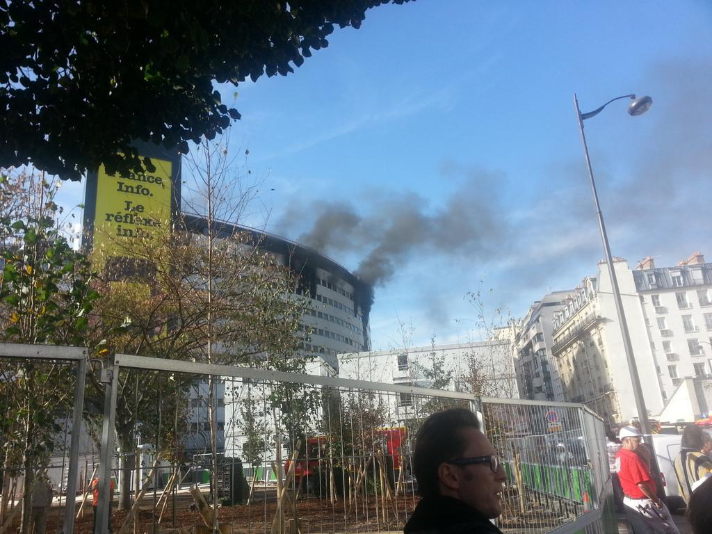Fire breaks out at Radio France headquarters in Paris
