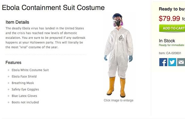 Ebola fancy dress