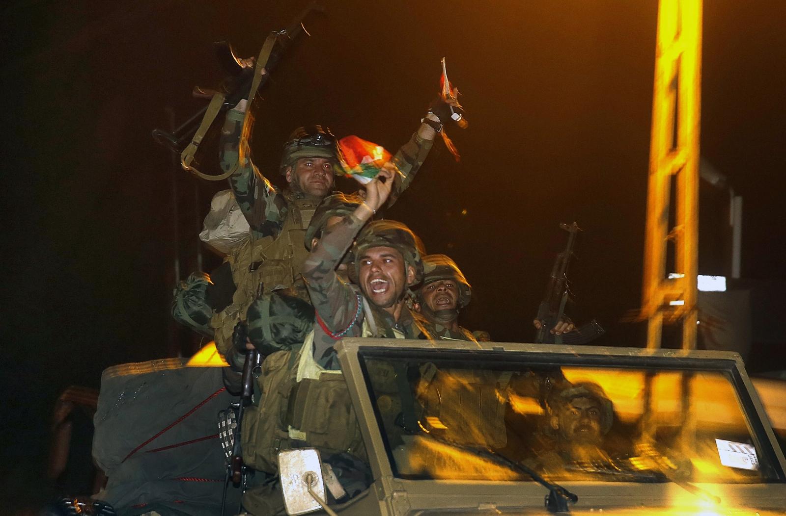 Kurdish Peshmerga forces in Kobani