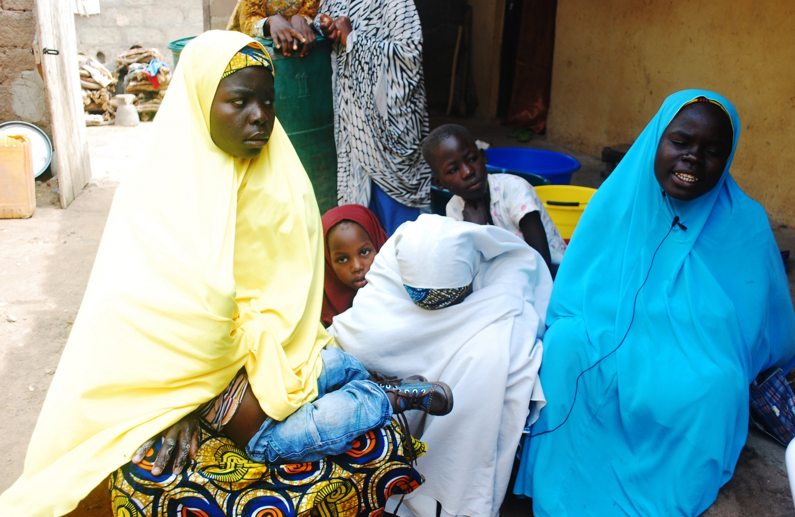 Women talk about their escape from violence after Boko Haram insurgents attacked their community