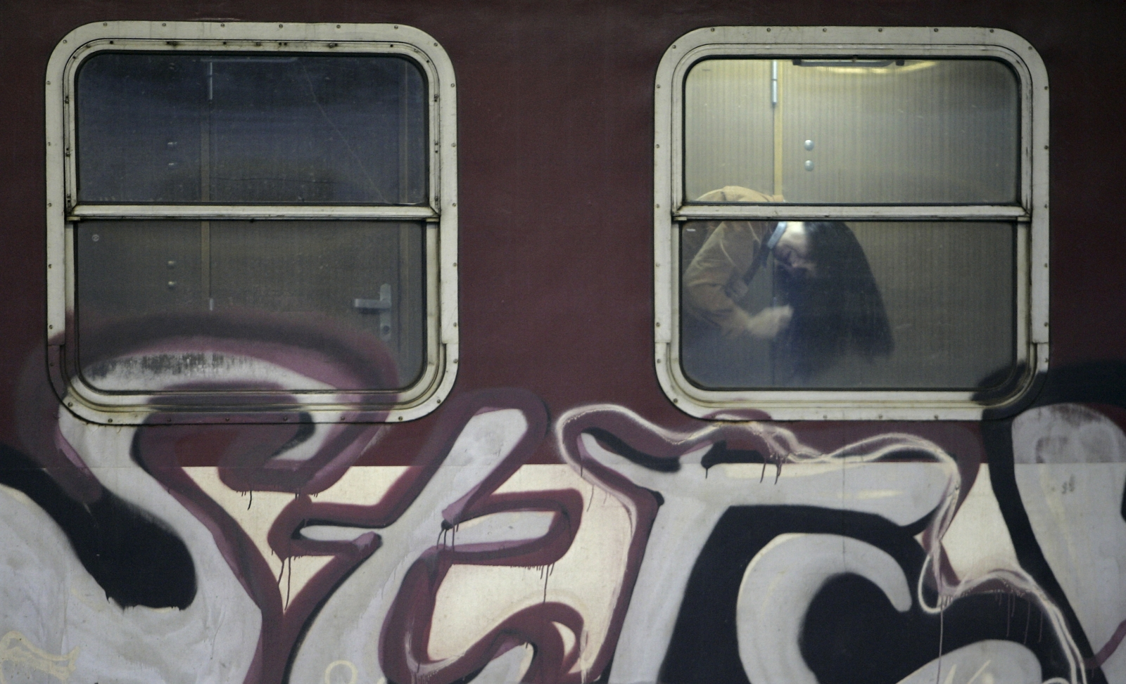 Graffiti on train