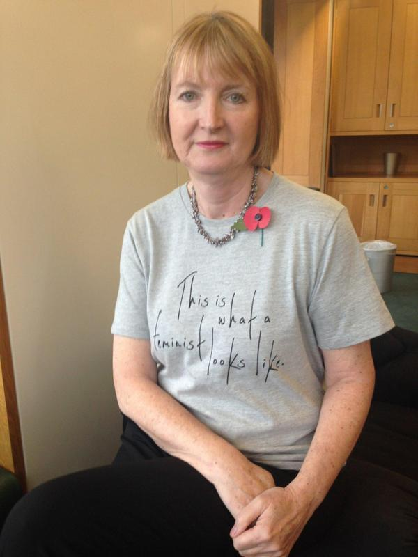 Leader of the House of Commons Harriet Harman supports the feminist cause