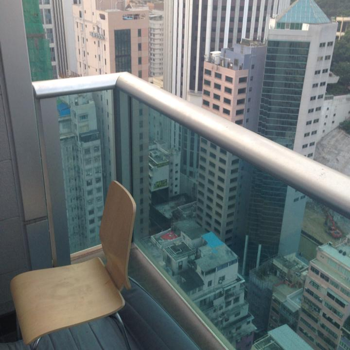 The view from Rurik Jutting's 31st floor apartment in Hong Kong