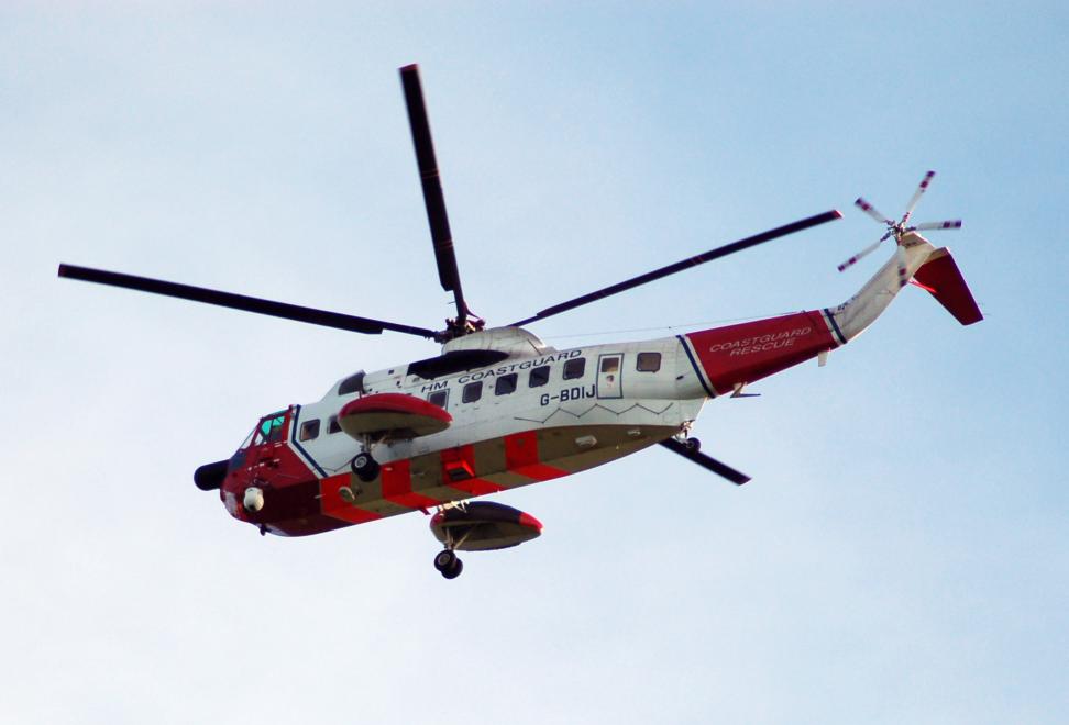 UK coastguard helicopter