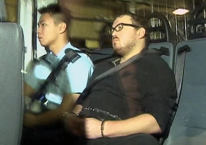 Rurik Jutting in court for Hong Kong double murder
