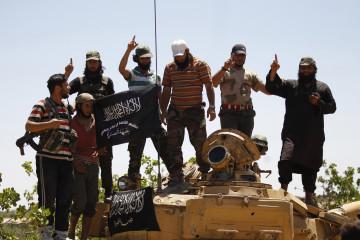 Idlib Jabhat al-Nusra tank