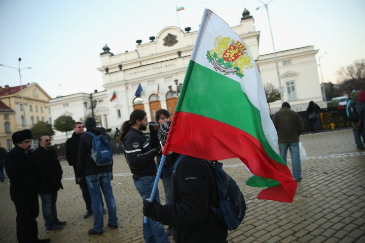 A woman self-immolated herself outside the Bulgarian parliamentary building