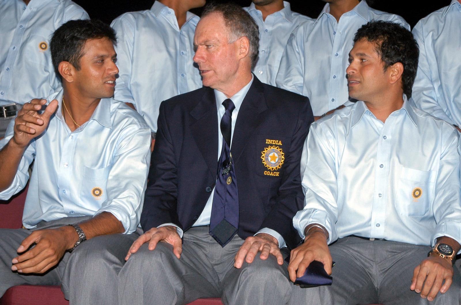 Rahul Dravid-Greg Chappell-Sachin Tendulkar